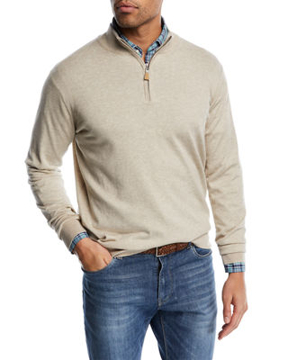Peter Millar Crown Soft Half-Zip Sweater