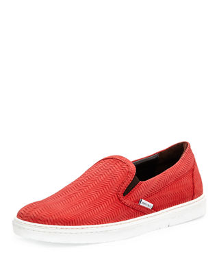 Jimmy Choo Grove Men's Woven Leather Slip-On Sneakers