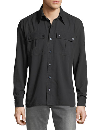 Men's Military Twill Sport Shirt