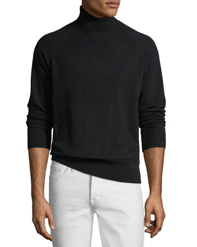 Men's Raglan-Sleeve Cashmere Turtleneck Sweater