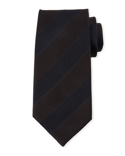 TOM FORD Mesh Stripes Silk Tie