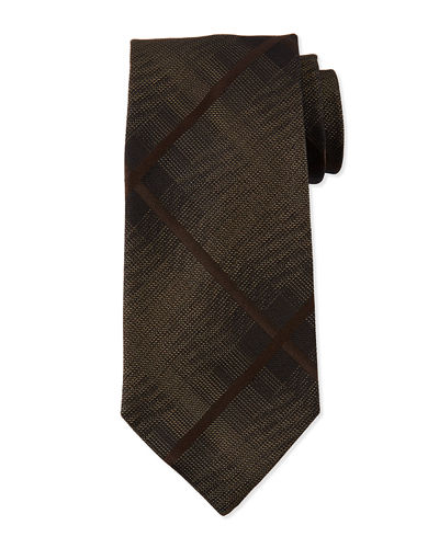 Men's Large Squares Silk Tie