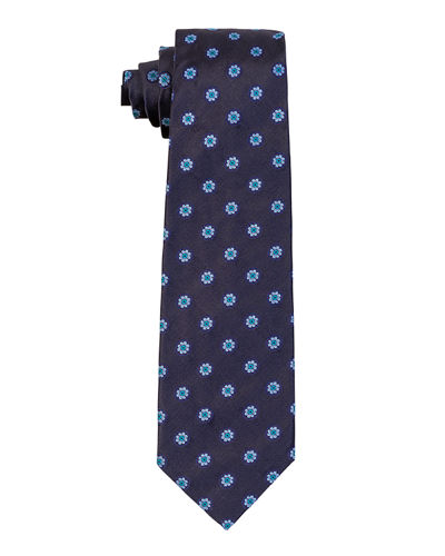 Flower Circle Silk Tie