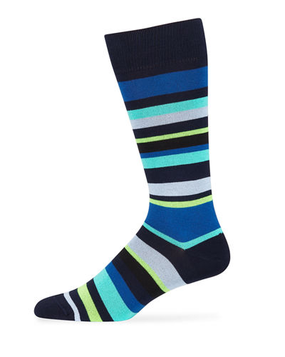 Men's Bangor Stripe Cotton-Blend Socks
