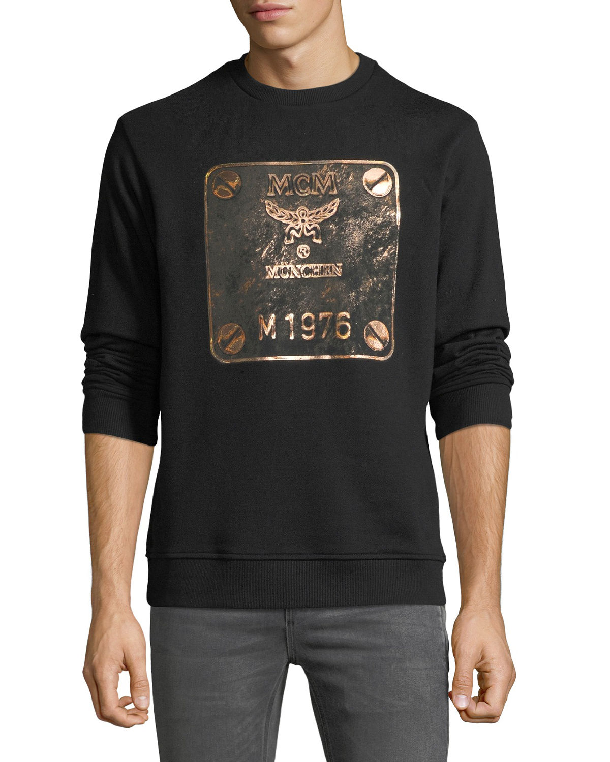 Men's Logo Plate Graphic Sweatshirt