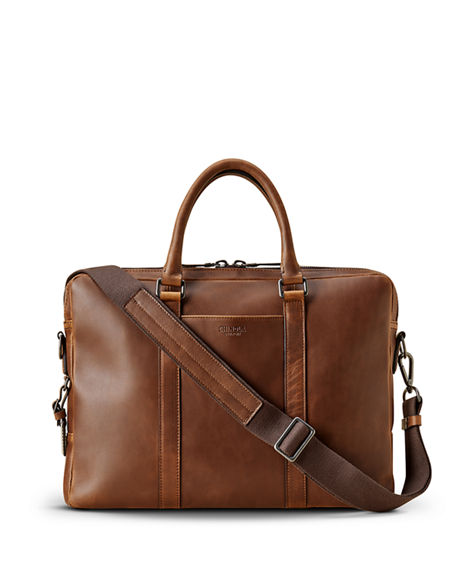 Shinola Men's Navigator Leather Laptop Briefcase
