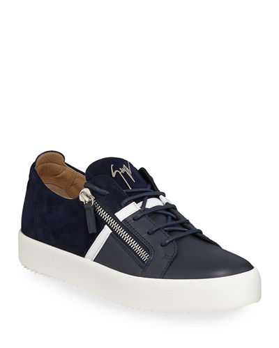 318c903877925 Quick Look. Giuseppe Zanotti · Men's Mixed-Media Double-Zip Low-Top Sneakers