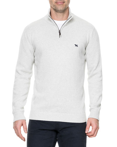 Men's Merrick Bay Half-Zip Cotton Sweater