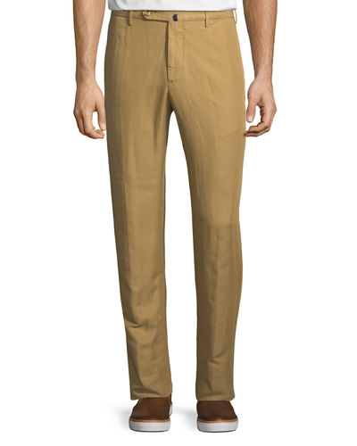 Incotex Men's Benn Standard-Fit Chinolino Pants