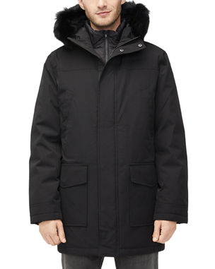 2fb4330afc0 UGG Men s Butte Fur-Trim Hooded Parka Coat