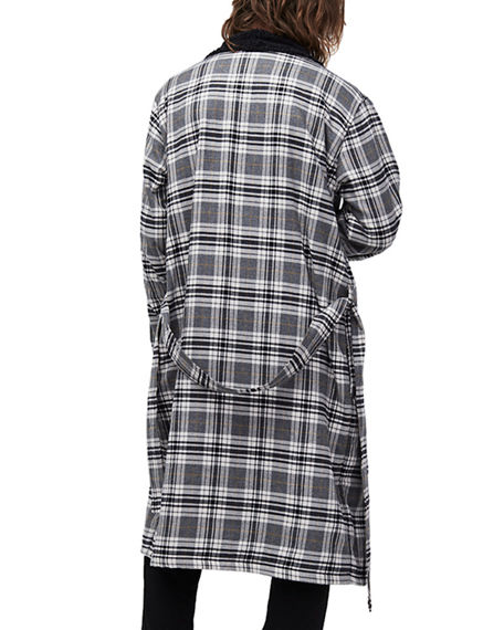 ecbf668ffb Ugg Men S Kalib Sherpa-Lined Plaid Robe In Charcoal Plaid