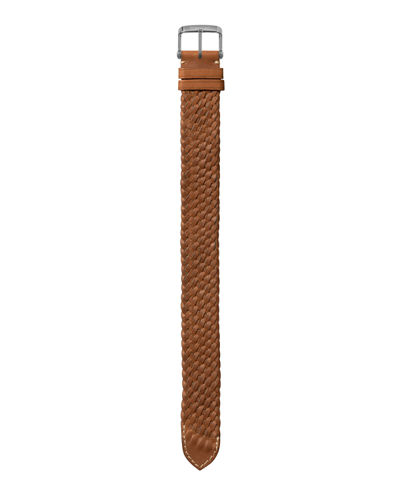 Large Handmade Braided Calf Leather Strap