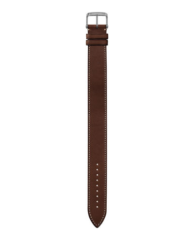 Large Calf Leather Strap with ECRU Stitching