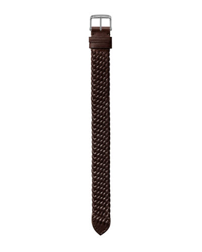 Medium Handmade Braided Calf Leather Strap