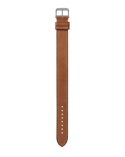 Medium Calf Leather Strap with ECRU Stitching