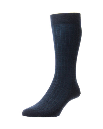 Men's Greville Mini-Spiral Grid Socks