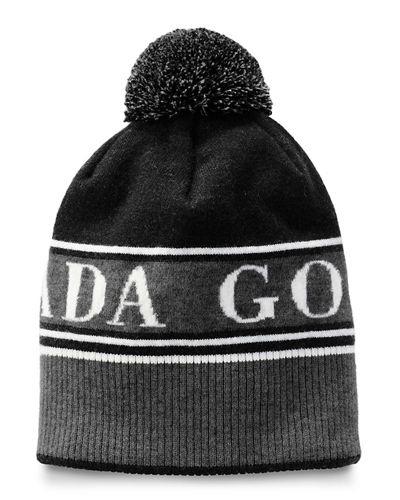 Men's Logo Toque Beanie Hat w/ Pompom