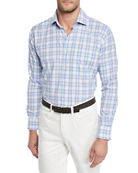 Peter Millar Men's Crown Finish Madras Check Sport