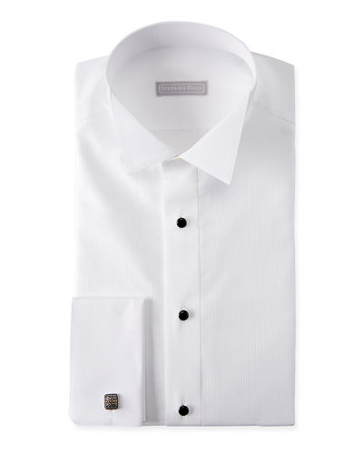 Men's Cotton French-Cuff Tuxedo Shirt