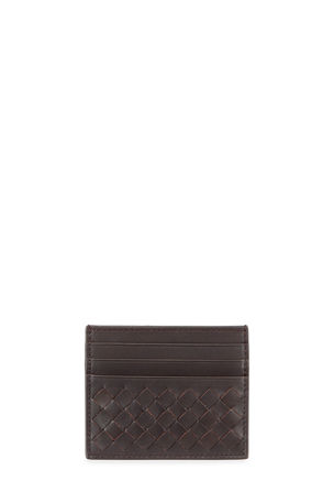 Bottega Veneta Men's Woven Leather Credit Card Case