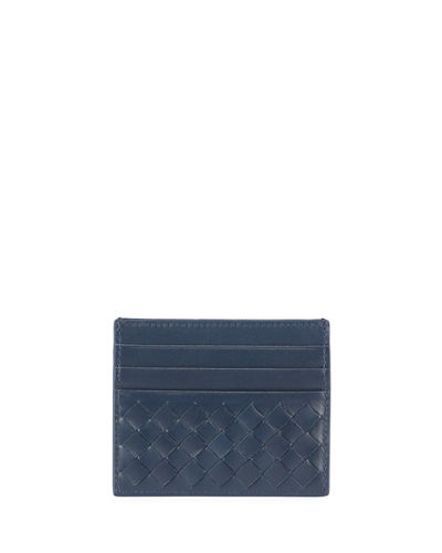 Men's Woven Leather Credit Card Case
