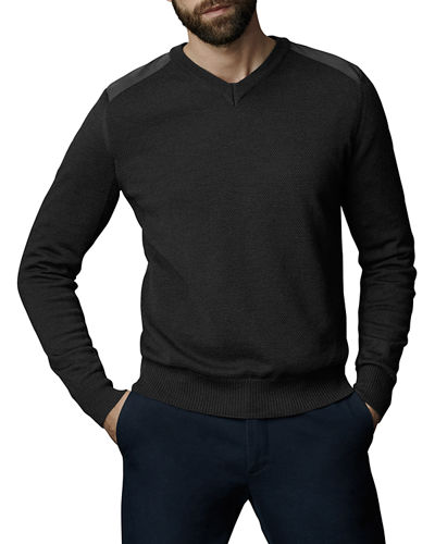 McLeod V-Neck Sweater w/ Nylon Shoulders