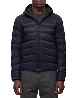 Men'S Brookvale Quilted Hoodie Puffer Jacket in Blue