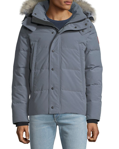 Men's Wyndham  Fusion-Fit Down Parka with Fur-Trim Hood