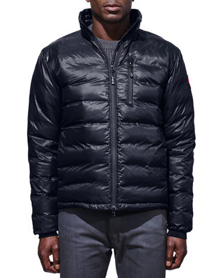 Men'S Lodge Down Puffer Jacket in Blue