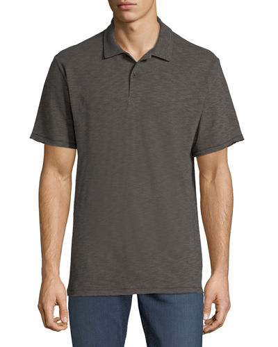 Men's Owen Stripe Linen/Cotton Polo Shirt