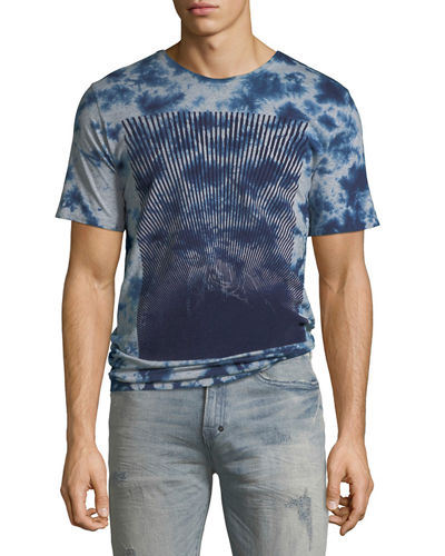 Men's Flocked Logo Graphic T-Shirt
