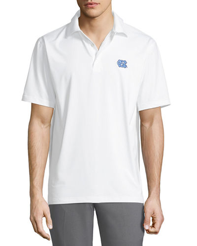 Men's UNC Solid Stretch Jersey Polo Shirt