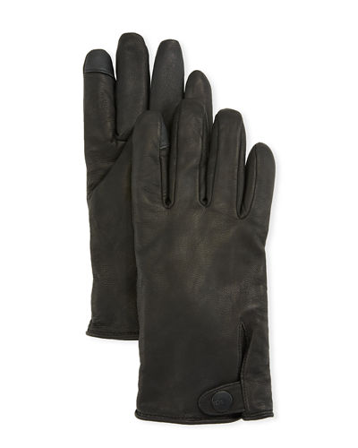 Men's Tabbed Splice-Vent Leather Gloves