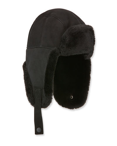 UGG Men's Shearling-Lined Sheepskin Trapper Hat