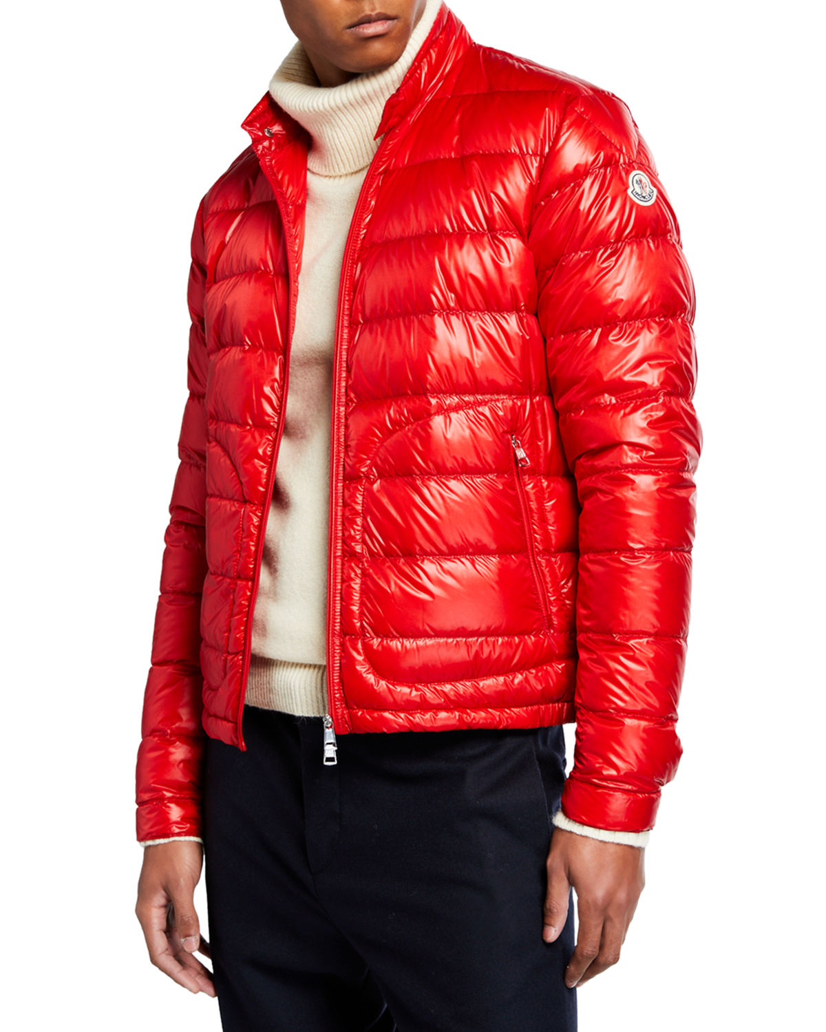 748e6f2f3 Moncler Men s Acorus Quilted Stretch Down Jacket