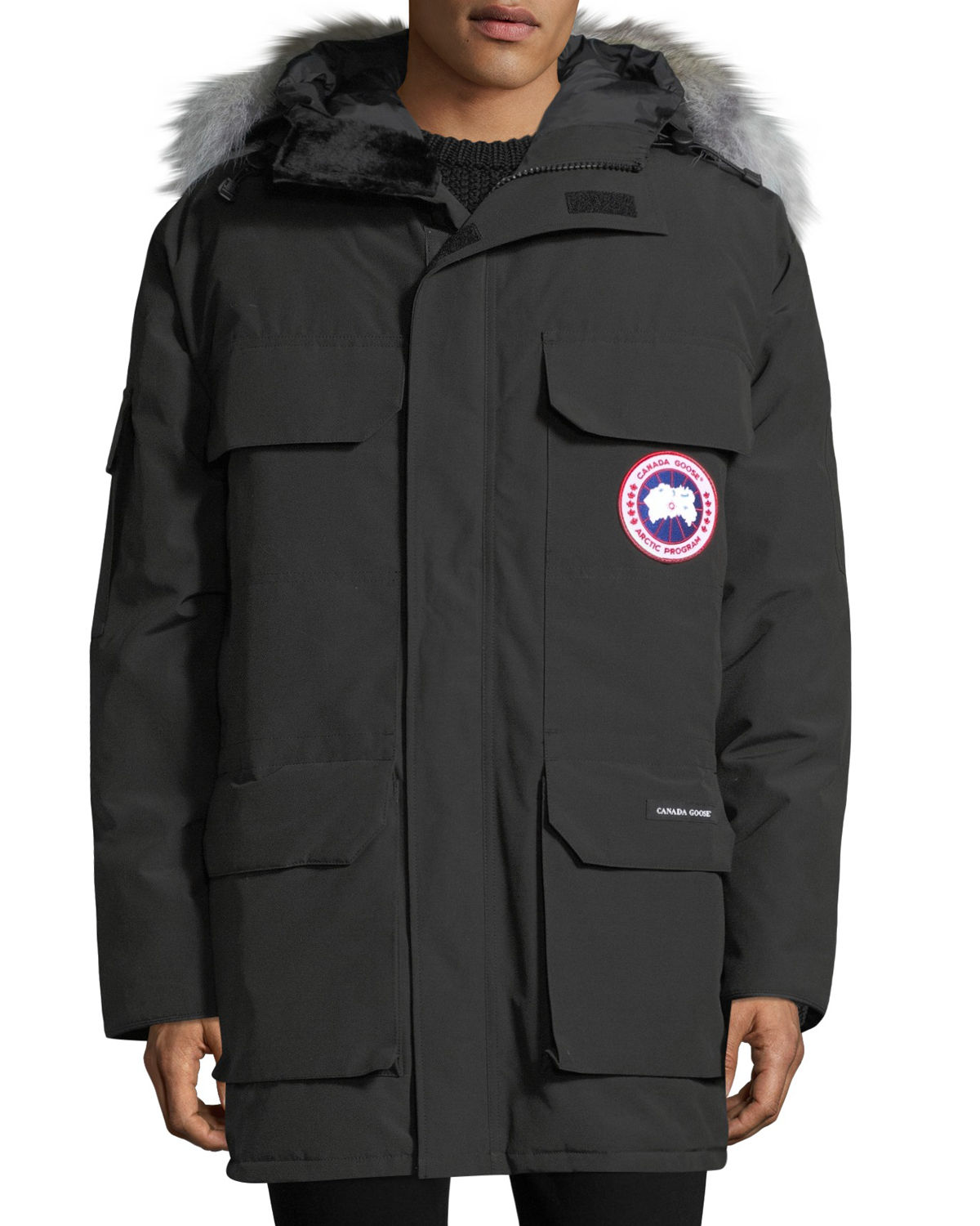 27f2d541a86 Canada Goose Men'S Expedition Hooded Parka Coat In Black | ModeSens