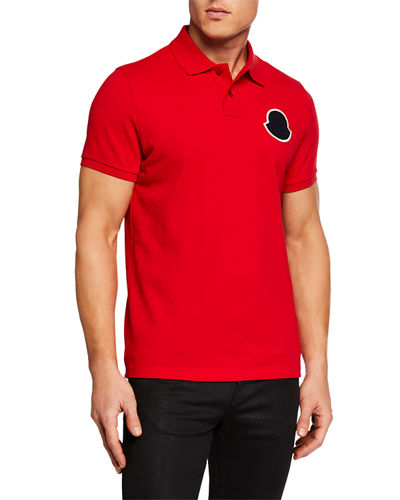 68ca9646 Quick Look. Moncler · Men's Maglia Manica Corta Polo Shirt. Available in  Black, Neutral, Red