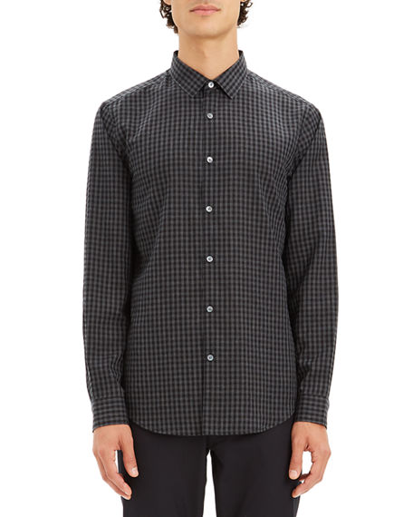 Theory Men's Murrary Flannel Gingham Sport Shirt