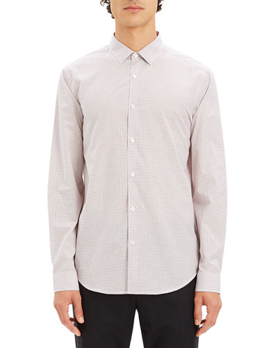 Men's Murrary Grid Poplin Sport Shirt