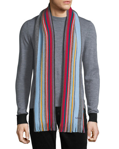 Men's Fennel Stripe Scarf