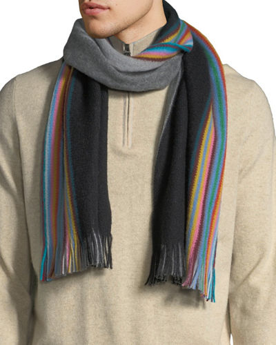Men's Multi Edge Double Face Scarf