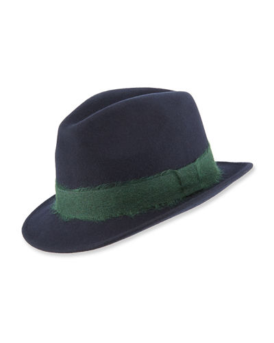 Men's Mohair-Band Trilby Hat