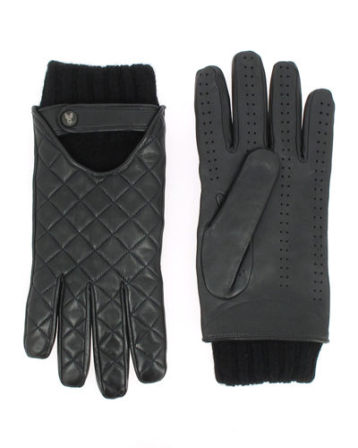 Men's Vintage Cashmere-Lined Lambskin Gloves