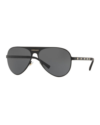 976357776a3 Quick Look. Versace · Men s Medusa Head Aviator Sunglasses