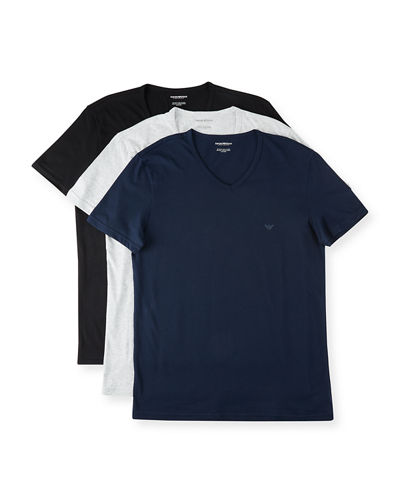 8d6f7e3e398 Quick Look. Emporio Armani · Men s V-Neck Three-Pack T-Shirts. Available in  Black ...