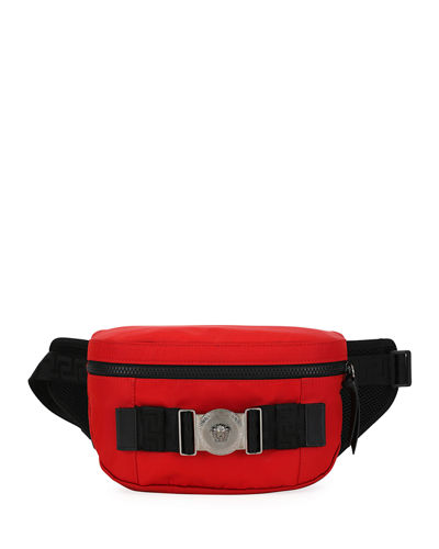 Men's Logo-Medallion Nylon Belt Bag