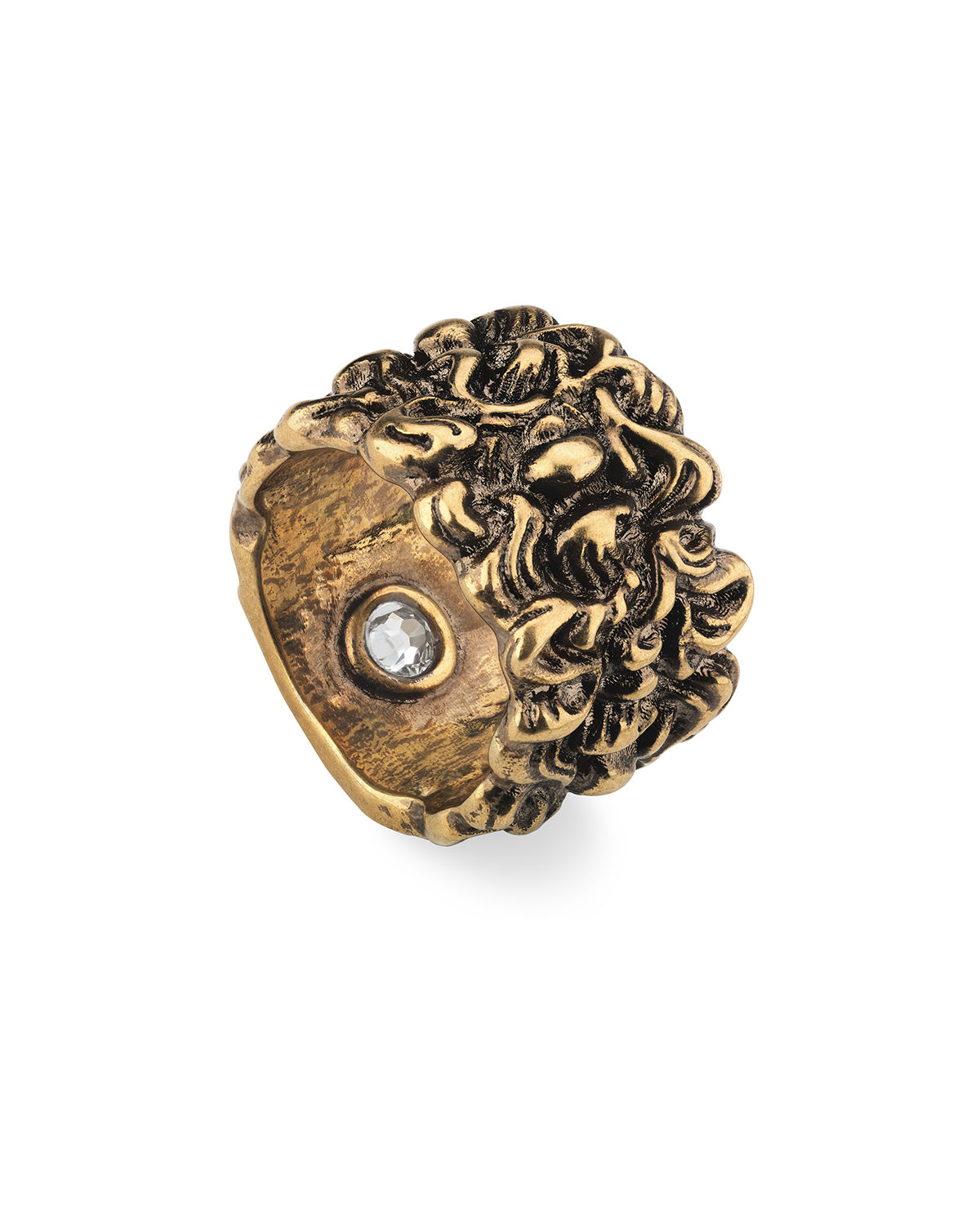 fafd7cf72 Gucci Men's Large Lion Head Band Ring | Neiman Marcus