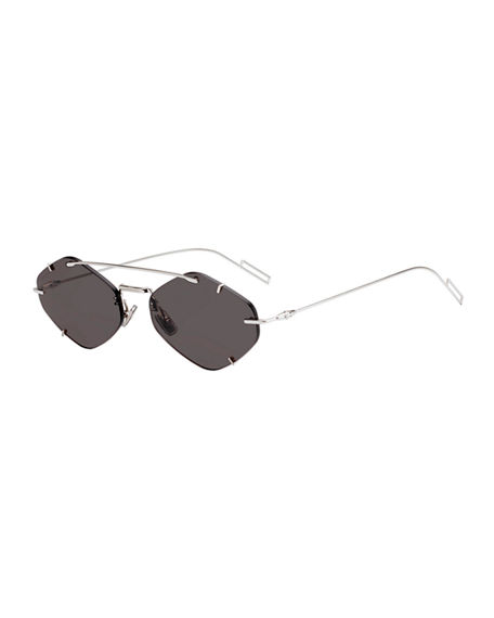 Dior Men's Inclusion Rimless Mirrored Sunglasses
