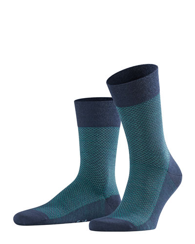 Men's Dotted-Diamond Wool Socks