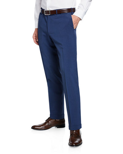 Micky Slim-Fit Stretch-Gabardine Dress Pants